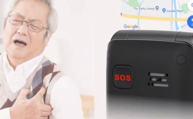 Botón SOS smartphones para mayores con whatsapp