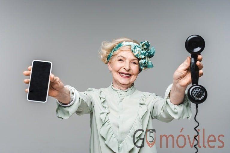 teléfonos móviles para gente mayor